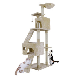 Cat House Designs With Scratch Post, Ladders & Balconies