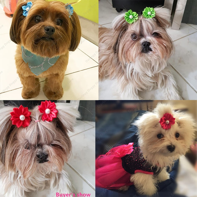 Flower Hair Bows