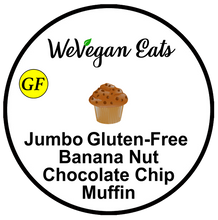 Load image into Gallery viewer, Jumbo Gluten-Free Banana Nut Chocolate Chip Muffin