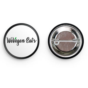 WeVegan Eats Circle Button Pin