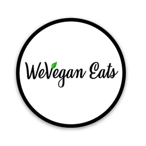 WeVegan Eats Circle Logo Sticker
