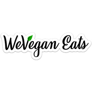 WeVegan Eats Laptop Sticker