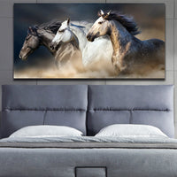 Trio of Horses Canvas Painting - BREATHTAKING Decor!