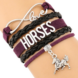 Stacked Leather Horse Bracelet - express your INDIVIDUALITY!