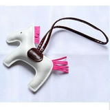 Adorable Leather Horse Keychain - A ONE OF A KIND statement piece!