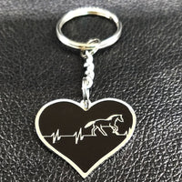 Horses are in my HEART Keychain - ELEGANT fashion piece!