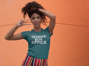 Girl wearing Georgia Box Office shirt