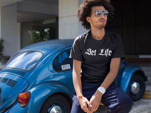 "Guy wearing the ""Set Life"" Tee"