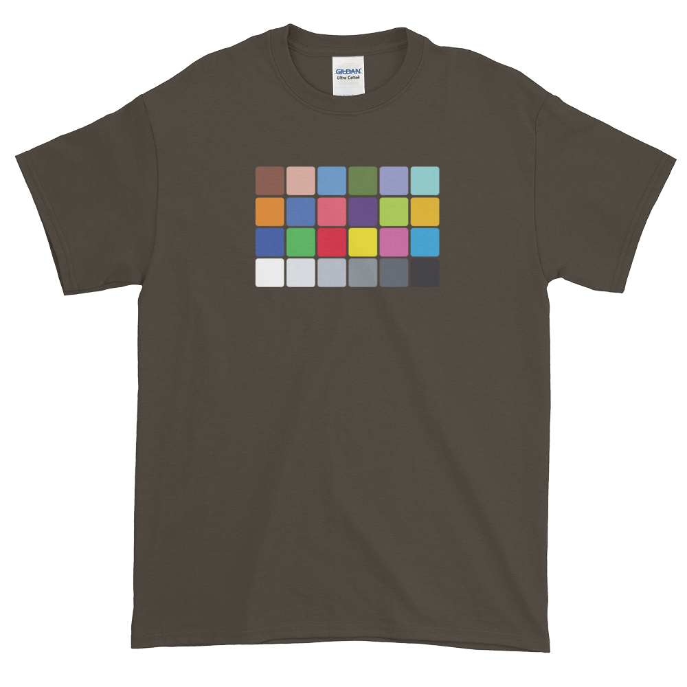 Olive color chart t-shirt