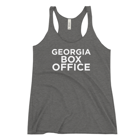 Gray Georgia Box Office racerback tank top