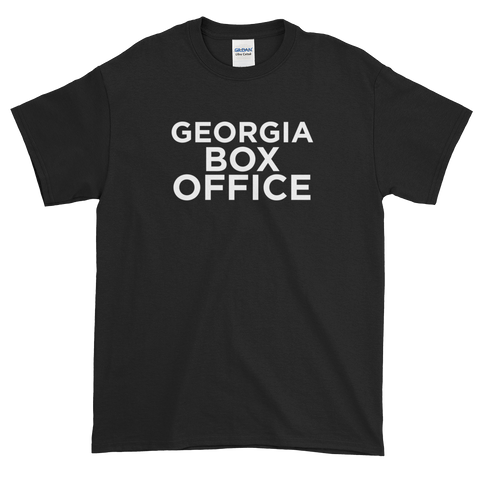 Black Georgia Box Office t-shirt with white logo
