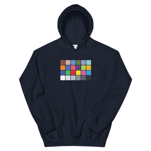 Black color chart hoodie by GBO