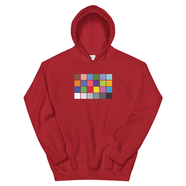 Red Color Chart hoodie by Georgia Box Office Store