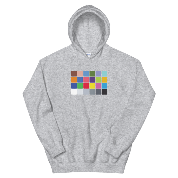 Color Chart hoodie for filmmakers