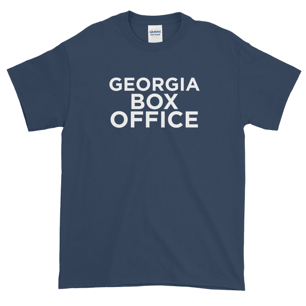 Blue Georgia Box Office t-shirt with white logo