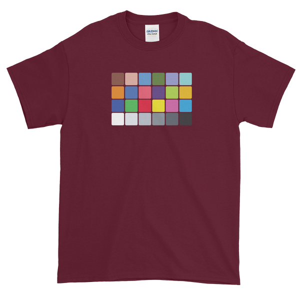 color chart t-shirt from Georgia Box Office