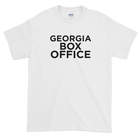 Georgia Box Office t-shirt with black logo
