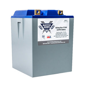 Battle Born 50 Ah 12 V LiFePO4 Deep Cycle Battery