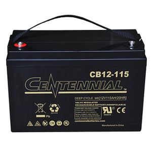 Centennial Battery 12V 115Ah AGM Group 31 - CB12-115