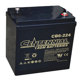 Centennial Battery 6V 224Ah AGM Group GC2  - CB6-224