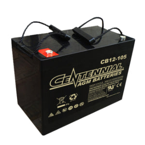 Centennial Battery 12V 105Ah AGM Group 27 - CB12-105