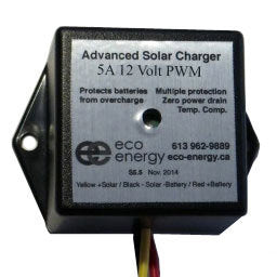 Eco Energy Charge Controller PWM 5A 12V - ASC-S5-12V