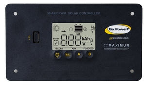 Go Power 30 Amp Digital Solar Controller GP-PWM-30