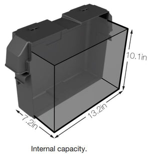 NOCO Group 27 Snap-Top Battery Box - HM327BKS Internal Dims