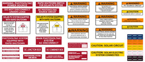 HellermannTyton Residential Installation Solar Label Pack - 596-03942