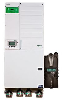 Midnite Solar Pre-Wired Inverter-Charger System with Single Schneider Conext XW5548 Inverter and  MidNite Classic 150 Charge Controller- MNXWP5548-CL150