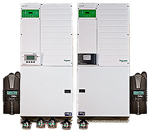 Midnite Solar MNXWP6848D-2CL150 Pre-Wired Inverter-Charger System with 2 Schneider Conext XW6848 Inverters and 2 MidNite Classic 150 Charge Controllers