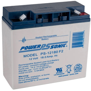 Power-Sonic Battery 12 Volt 18 Ah Sealed AGM - PS-12180-F2
