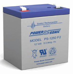 Power-Sonic Battery F2 12 Volt 5 Ah Sealed AGM - PS-1250