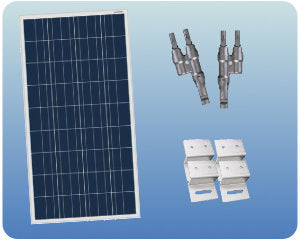 Colorado Solar RV Solar Expansion Kit 12V 100W Flat Mount - RV100-12F