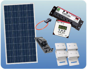 Colorado Solar RV Solar Kit 12V 100W Flat Mount - COLO-01352
