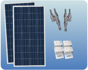 Colorado Solar RV Solar Expansion Kit 12V 200W Flat Mount - COLO-01354