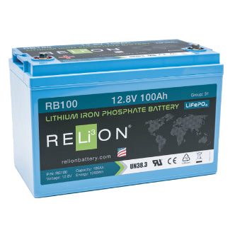 RELiON Battery Lithium Iron Phosphate 12Volt 100AH - RB100