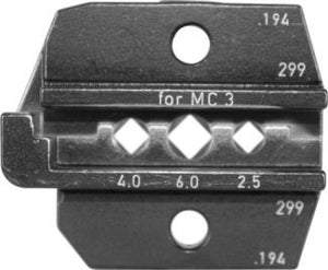 Rennsteig MC3 Die Set for Crimp Tool PEW12 - 624 194 3 0