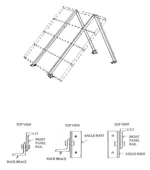 General Specialties S-Rail Universal Roof, Wall and Ground Mount 1 Panel Size D