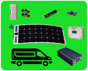 Colorado Solar Sprinter Van Solar Kit 100W Flex - SPR-100F