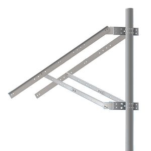 Solarland Solar Panel Mount Side-of-Pole Adjustable For 2 Panels -  SLB-0124