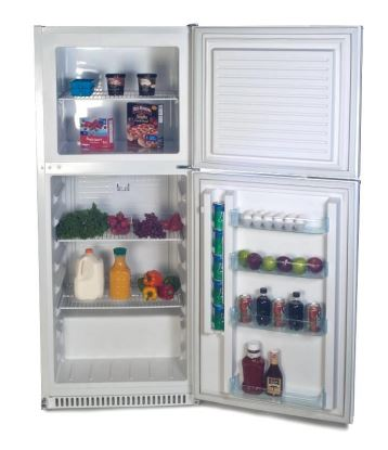 Sundanzer Refrigerator with Top Freezer 15 Cubic Foot 48V DC - DCRF450