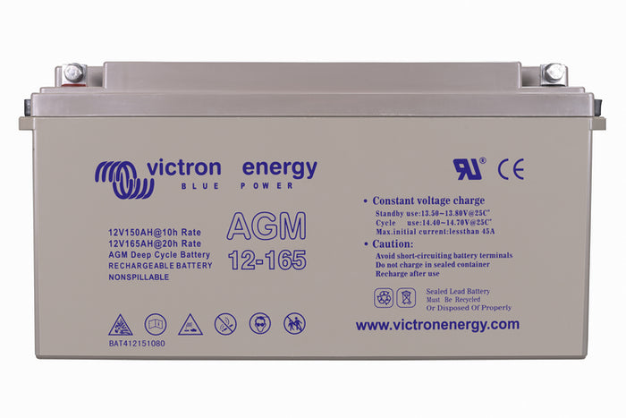 Victron Battery 12V 165Ah AGM Deep Cycle Battery (M8) - BAT412151085