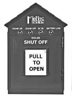 MidNite Solar Birdhouse Emergency Disconnect Gray - MNBIRDHOUSE1-GRAY