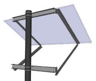 General Specialties Side-Of-Pole Solar Mount for 1 X 36-Cell Panel - SOP-K-A