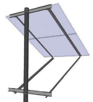 General Specialties Side-Of-Pole Solar Mount for 2X 72-Cell Solar Panels - SOP-Y-D