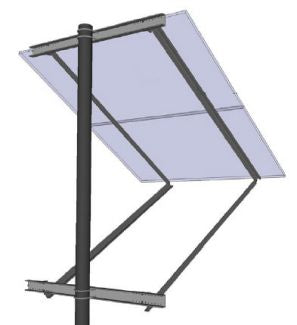 General Specialties Side-Of-Pole Solar Mount for 2X 60-Cell Solar Panels  - SOP-Y-C