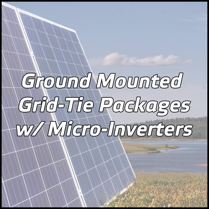 Ground Mounted Solar Packages w/ Micro-Inverters