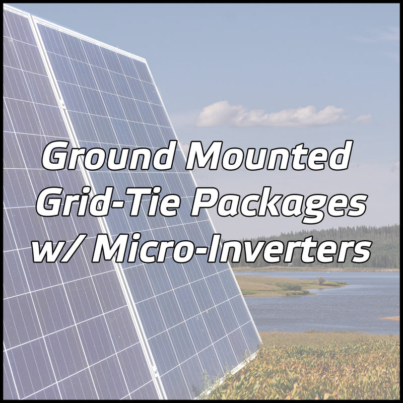 Ground Mounted Solar Packages W Micro Inverters Solar