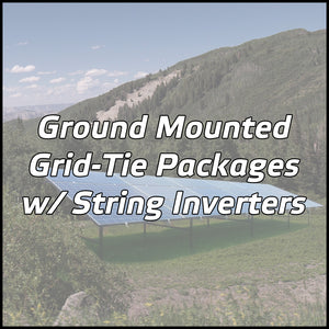 Ground Mounted Solar Packages w/ String Inverters